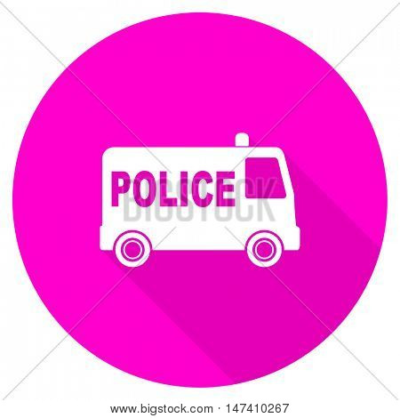 police flat pink icon