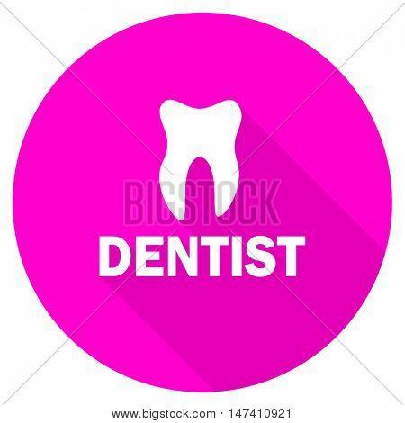 dentist flat pink icon