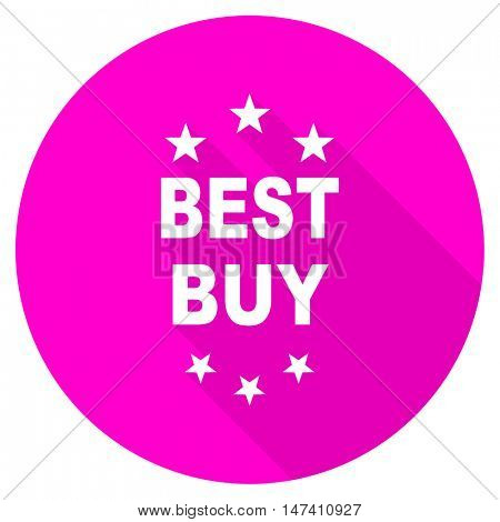 best buy flat pink icon