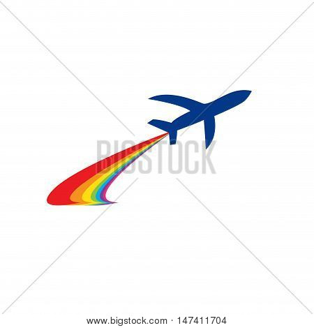 Vector sign travel ,airplane  isolated on white