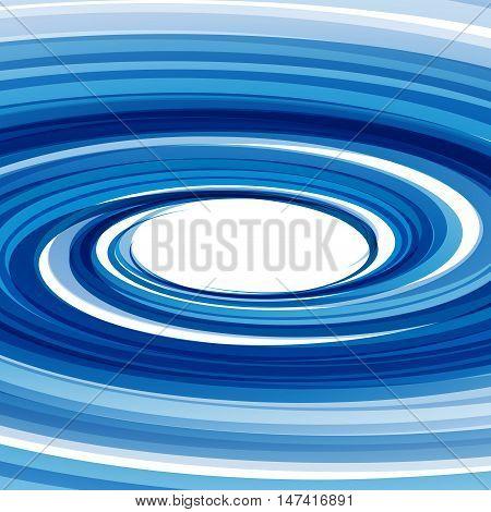 Vector Blue Vortex background, orbits in circle