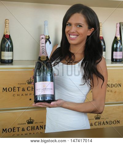 NEW YORK - SEPTEMBER 10, 2016: Moet and Chandon champagne presented at the National Tennis Center during US Open 2016 in New York. Moet and Chandon is the official champagne of the US Open