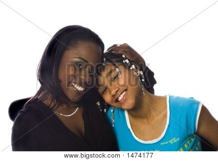 African American Mom  Daugther