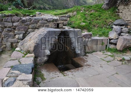 Inca Design around a Waterfall