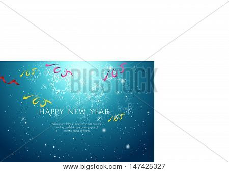 2017 Happy New Year Celebration Background In Hi Technology Style Vector Illustration