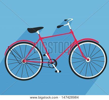 Bicycle flat design. Bike logo. Vector illustration