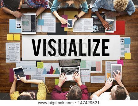 Visualize Creative Thinking Creativity Design Concept