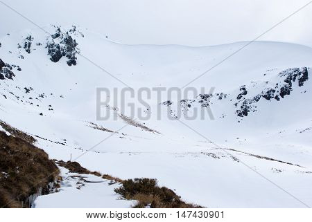Snow Covered Mountains At Kepler Track, New Zealand