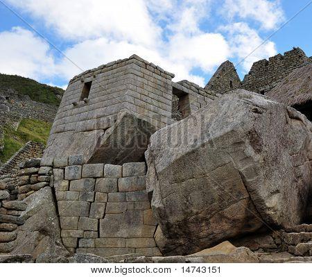 Huge Boulder at Machu Picchu