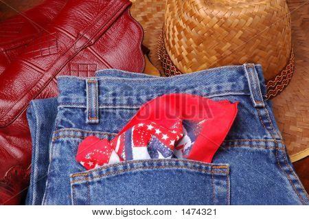 Jeans  Boots & Hat