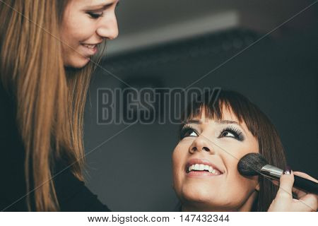 Blush make-up beauty salon make-up artist, toned image