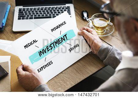 Investment Retirement Plan Diagram Concept