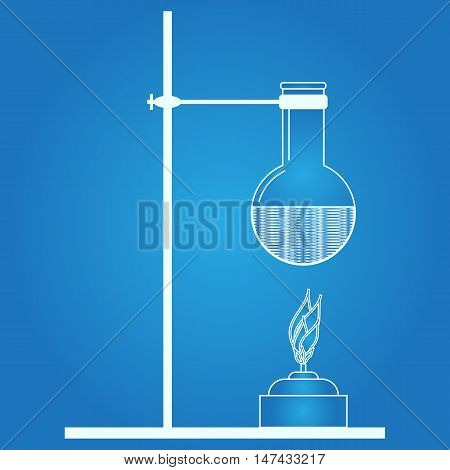 Laboratory testing. Beaker icon. Abstract medical image. Vector illustration.