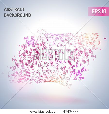 Abstract triangle vector background eps 10. Abstract background with colored elements