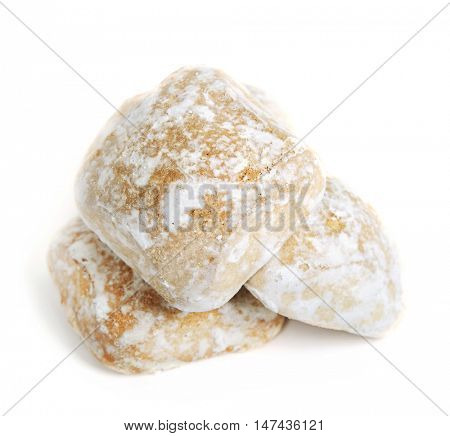 Honey-cakes isolated on white