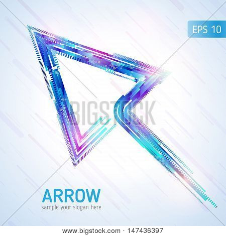 Abstract technology lines. Abstract arrow. Vector background