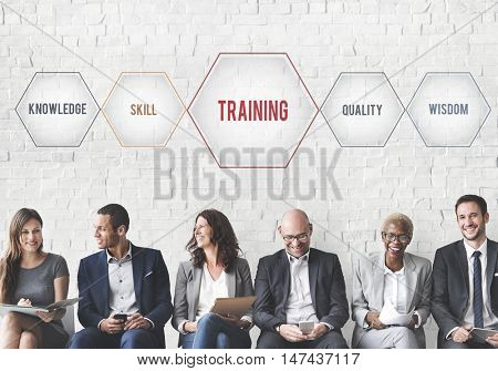Training Success Development Geometric Forms Graphic