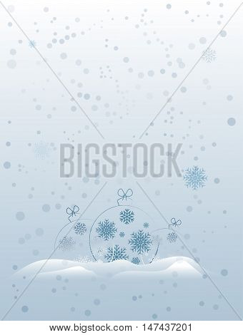Abstract christmas toy lying in the snow.Vector