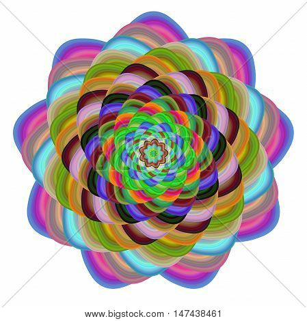 Multicolored abstract computer generated vector fractal art