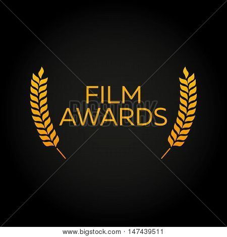 Laurel. Film Awards Winners. Film awards logo. Cinema. Vector illustration.