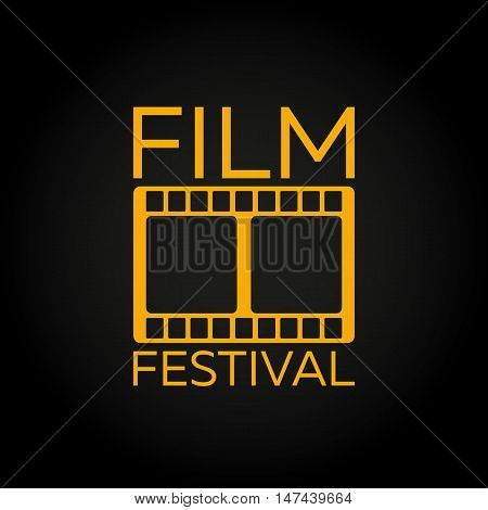 Film Festival. Film Awards Winners. Film awards logo. Cinema. Vector illustration