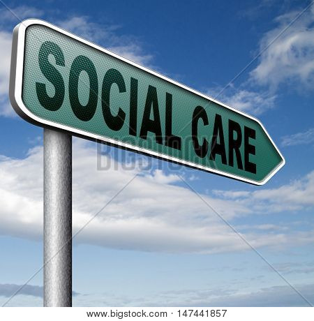 social care or security and insurance pension disability welfare and unemployment programs 3D illustration