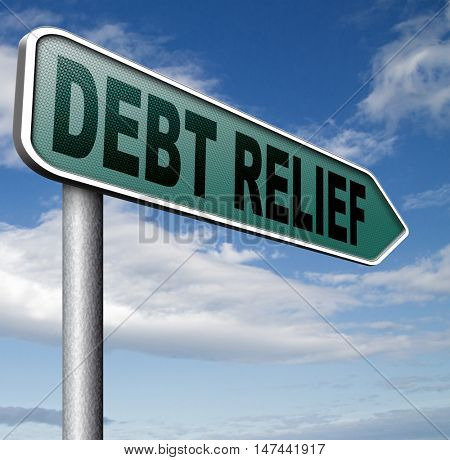 debt relief after bankruptcy caused by credit or housing bubbles restructuring finance after economic or bank crisis 3D illustration