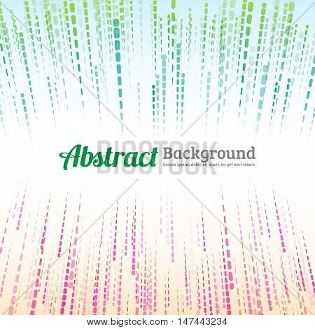 Abstract dashed line background. Colorful dashed line.