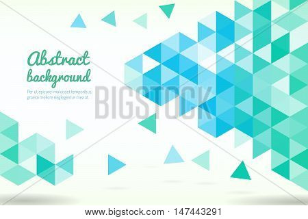 Abstract template background with triangle shapes. Banner with triangle shapes