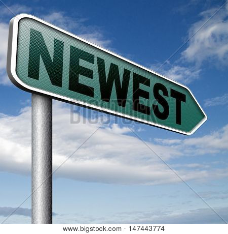 newest best or latest product model release hot news headlines new release  3D illustration
