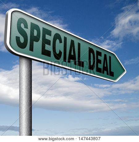 Deals great special sales offer 3D illustration