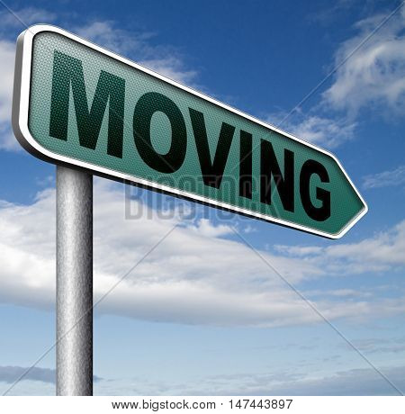 Moving or relocation relocate to other house or location  3D illustration
