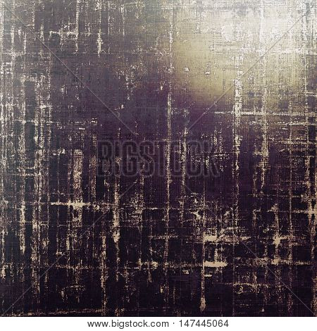 Vintage style shabby texture or background with classy grungy elements and different color patterns: yellow (beige); brown; gray; purple (violet); black; white