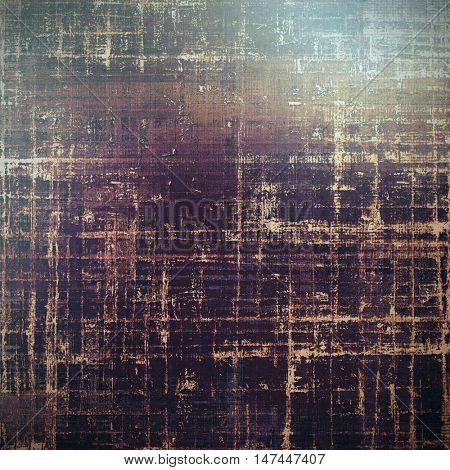 Vintage torn texture or stylish grunge background with ancient design elements and different color patterns: yellow (beige); brown; gray; green; purple (violet); black
