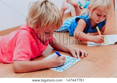kids learning to write numbers, education and learning