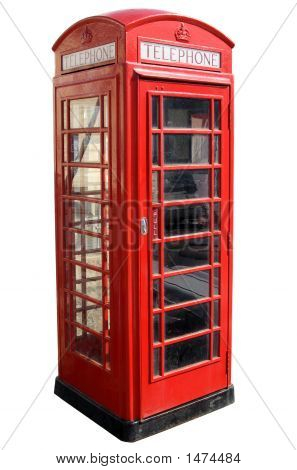 Classic Red British Telephone Box.
