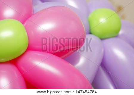 Balloon flowers. Latex colored twisting balloons. party balloons. Colorful children's party fancy balloons. Children's party balloons. Empty balloons. Fancy balloons. Colorful birthday balloons. Baby balloon. Collection of color balloons.