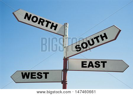 north south east west sign