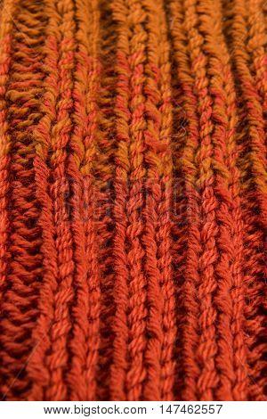striped colorful wool texture handmade patten closeup macro  red yellow  orange brown gradient