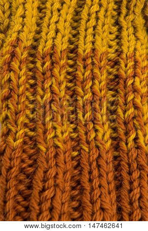 striped colorful wool texture handmade patten closeup macro blue  yellow brown gradient