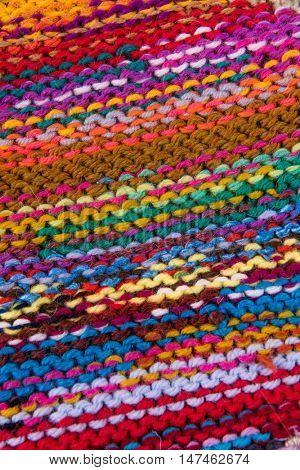 striped colorful wool texture handmade patten closeup macro blue red green yellow pink purple orange beige white black