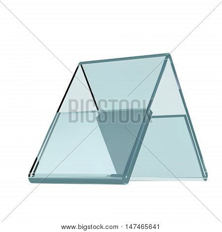 3D rendering Acrylic card holder for events isolated transparent object