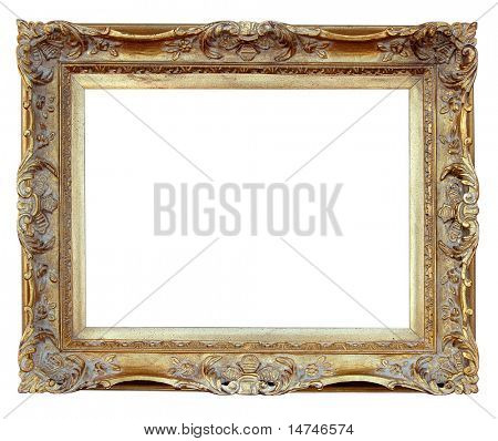 Vintage Frame over white background (With Clipping Path)