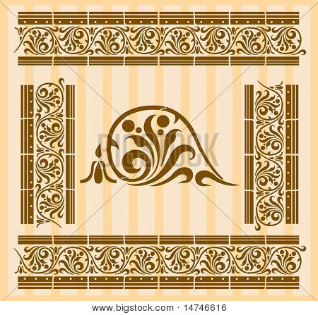 Frame patterns in Greco Roman style. Repeated patters allows you to build a continuous border or frame of any size - VECTOR