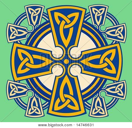 Celtic decorativo Cruz - VECTOR