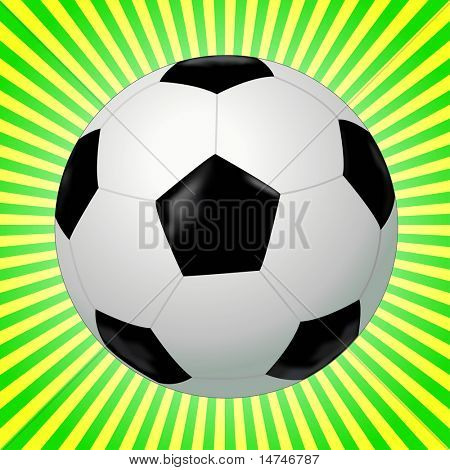 Black and white soccer ball - VECTOR