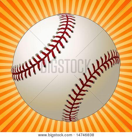 Béisbol sobre un fondo Sunburst
