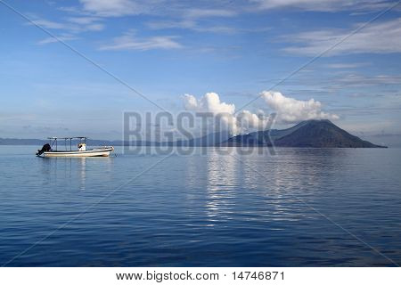 Calm waters and active volcanoes