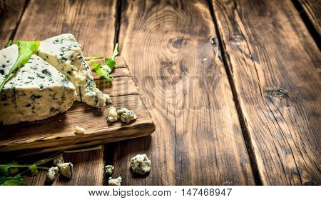 Italian cheese and herbs on the Board.