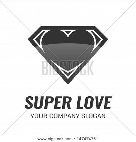 Logo for your company. Icon Super Love. Vector